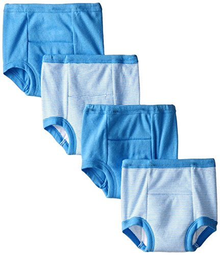 Gerber Toddler Boys' 4 Pack Training Pants, Blue Striped, 3T