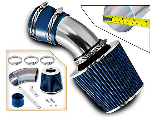 Rtunes Racing Short Ram Air Intake Kit + Filter Combo BLUE Compatible For 98-05 BMW E46 3-Series …