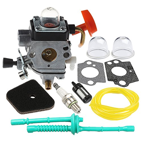 Hilom C1Q-S174 Carburetor with Air Fuel Filter Tune Up Kit for STIHL FS87 FS90 FS100 FS110 HT100 HT101 HL100 HL90 Carb Trimmer Replaces # 4180 120 0604 4180 120 0611