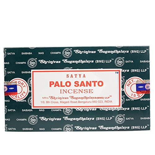 Satya Palo Santo-Varillas de Incienso (12 x 15 g), Multicolor, Length 20cm Diameter 0.1cm