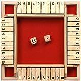 coastal rose Shut The Box Dice Game, 2 to 4 Players...