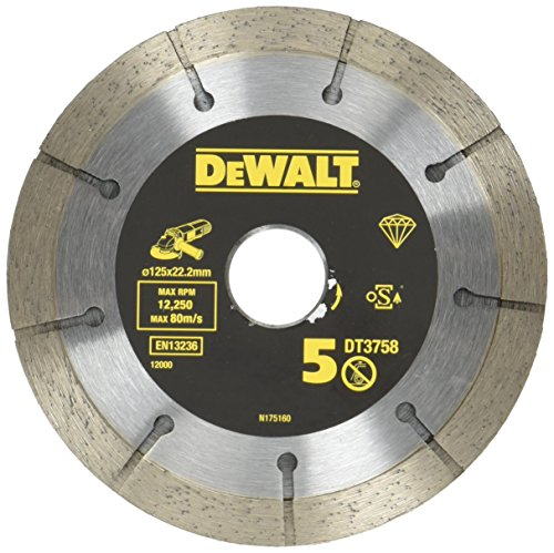 DEWALT DT3758-QZ DT3758-QZ-Doble Disco para cortar mortero de 125mm