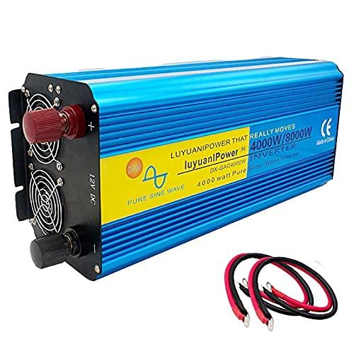 SUNWEII Inversor de energía de Onda sinusoidal Pura de Onda sinusoidal Pura de 4000W/8000W CC 12 V a CA 240 V/110V con Pantalla LED para camión RV Sistema Solar doméstico,24V