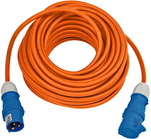 Brennenstuhl Cavo di prolunga CEE 230 V da campeggio 25 m (H07RN-F 3G2,5 nel colore segnale arancione, cavo di alimentazione da campeggio per uso continuo in esterni IP44, Made in Germany