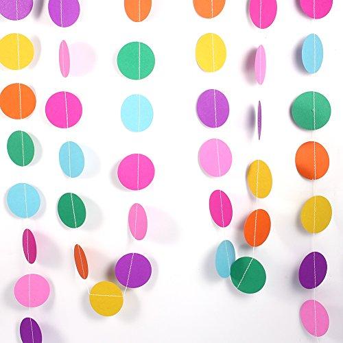 Papiergirlande, 4M bunte Runde hängenden Tissue-Papier-Kreis-Blumen-Girlande-Schnur-Kette Haupthochzeits-Feiertags-Geburtstags-Ereignis-Partei-hängende Dekoration neu(Round Colorful)