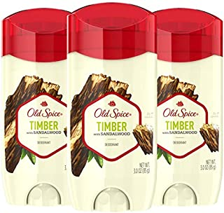 Old Spice Aluminum Free Deodorant for Men, Timber with Sandalwood Scent, 3 oz, (Pack of 3)