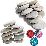 Piedras para Pintar Naturales de Playa, Piedras Creativas Pintadas a Mano, Kit de Pintura de Roca, Rocas Lisas Rocas Naturales, Rocas Lisas Pintura, para Artesanías Decoración, 20 pcs 5-7cm&7-10cm