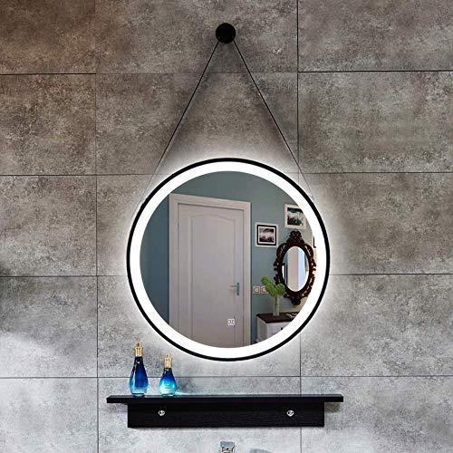 YVX Espejo luz Blanca/luz cálida Cuerda Colgante Hierro Redondo Arte lámpara LED tocador Colgante de Pared baño lámpara de baño Inteligente 50 CM, 60 CM, 70 CM, 80 CM