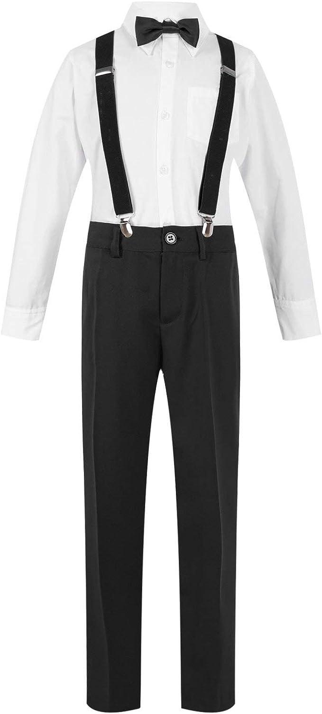 Jelory Dedication Kids Boys 4-Piece Formal Suit Wedding S Dress Superlatite Set Tie Bow