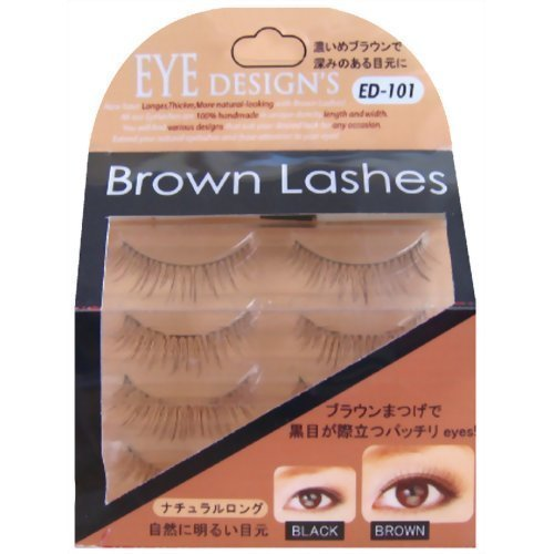 ANNEX JAPAN ANNEX | Eyelash | Eye Design's Brown Lash Natural Long Brown 4-Pa...