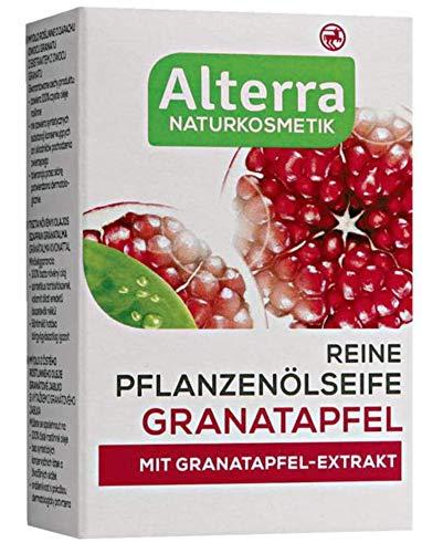 Reine Pflanzenölseife Granatapfel - mit Granatapfel-Extrakt, Naturkosmetik, vegan - 2er Pack (2 x 100g)