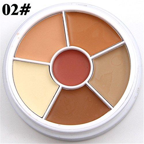 Pure Vie® 6 Couleurs Palette de Maquillage Correcteur Camouflage Crème Cosmétique Set #2 - Convient Parfaitement pour une Utilisation Professionnelle