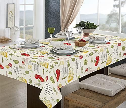 Toalha de mesa retangular 1,40x2,40m - 8 lugares - pratic limpa fácil temperos - raner