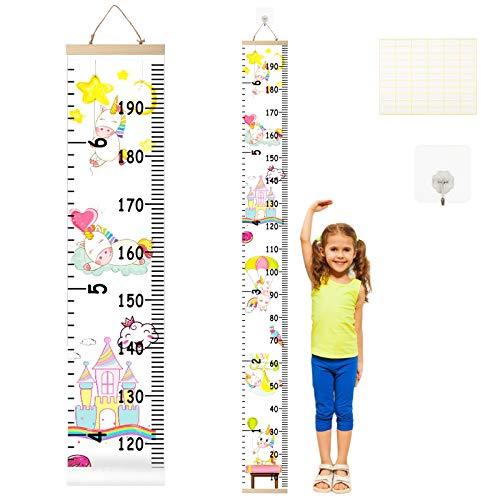 Medidor de Altura Infantil LANMOK Gráfico de Crecimiento Unicornio Tabla de Crecimiento Niños Regla de Altura Decoración de Dormitorio Chico Chica Guardería Jardín de Infancia Sala de Examen Médico