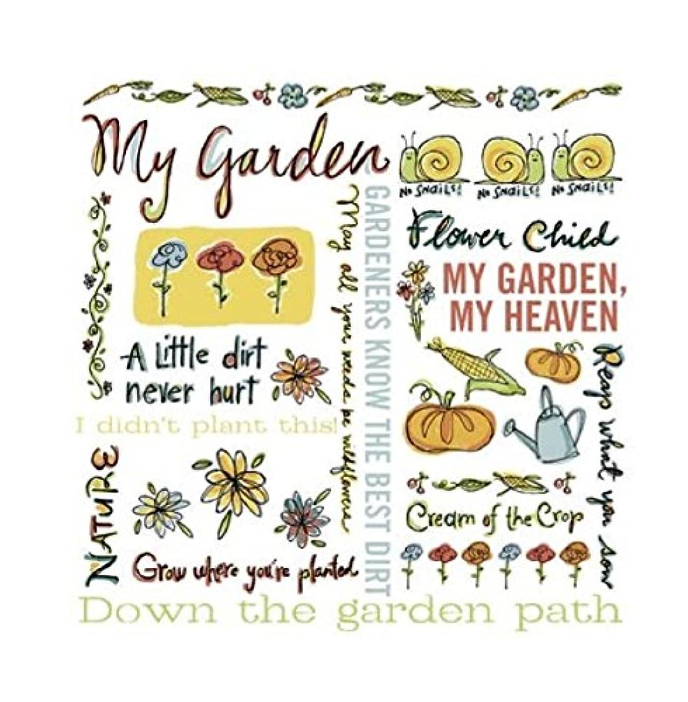 KAREN FOSTER Design Scrapbooking Rub-On, My Garden