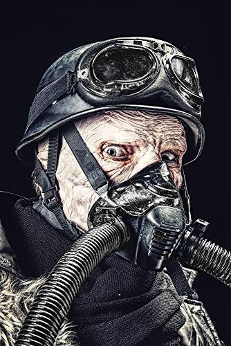 Posterazzi PSTZAB103010M Ugly Burnt face of Futuristic Nazi Soldier Wearing Gas mask Photo Print, 11 x 17, Multi
