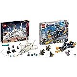 レゴ(LEGO) スーパー・ヒーローズ  スターク・ジェットとドローン攻撃 76130 マーベル ブロック おもちゃ 男の子 &  スーパー・ヒーローズ  キャプテン・アメリカ:アウトライダーの攻撃 76123 ブロック おもちゃ 男の子【セット買い】