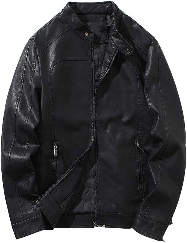 Ennglun Military Jacket,Men Winter PU Leather Jacket Biker Motorcycle Outwear Coat Tops,Jacket Mens Coat