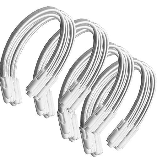 PisciHogar Tensores Gomas elásticas para Lona o cobertor de Invierno de Piscina. Regulables. Pack de: (40 Uds)