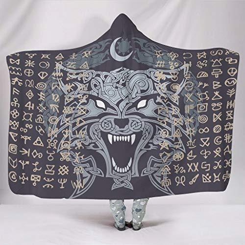 EUNNT Vikinger-Flanell-Fleece-Decken für Bett, Couch, 152,4 x 203,2 cm, Weiß