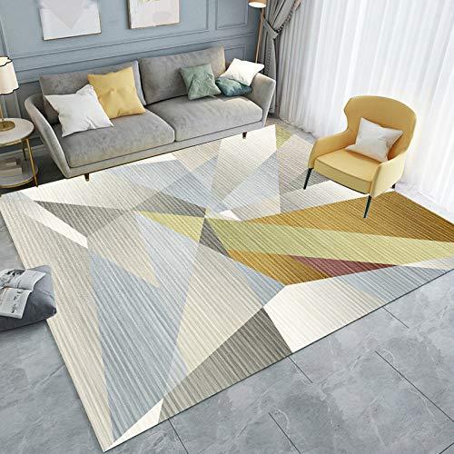 Nordic Minimalist Modern Geometric Floor Mat Printing Non-Slip Fashion Coffee Table Sofa Carpet Bedroom Living Room Hotel Bed And Breakfast Party Carpet