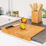 TIENDA EURASIA® Tablas de Cortar de Cocina - Tablas Modernas para Preparar, Cortar y Trocear (Tabla Encimera 45x35 cm)