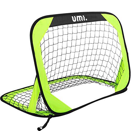 [Amazonブランド] Umi(ウミ) - サッカーゴール - 折りたたみ 室内 室外 子供用 大人用 - 3'x2', ネオンライム, ワンパック