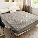 XGguo Protector de colchón Acolchado - Microfibra - Transpirable - Funda para colchon estira hasta Impresión de una Sola Pieza de sábana Impermeable-5_180 * 200cm