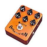 JOYO American Sound Amp Simulator Pedal of Fd 57 Deluxe Amplifier from Clean to Overdrive Sound for Electric Guitar Effect Bypass (JF-14)