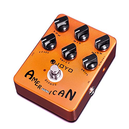 JOYO American Sound Amp Simulator Pedal of Fd 57 Deluxe Amplifier from Clean to Overdrive Sound for Electric Guitar Effect - Bypass (JF-14)