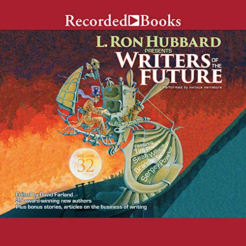 L. Ron Hubbard Presents: Writers of the Future, Volume 32                   By:                                                                                                                                 Jon Laser,                                                                                        Stewart C. Baker,                                                                                        Christoph Weber,                   and others                          Narrated by:                                                                                                                                 Richard Poe,                                                                                        Laura Knight Keating,                                                                                        Matthew Greer,                   and others                 Length: 12 hrs and 32 mins     2 ratings     Overall 4.5