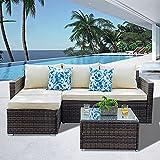 Best WE Furniture Patio Furniture Sets - Garden Patio Sofa Set Patio Conversation Set Review