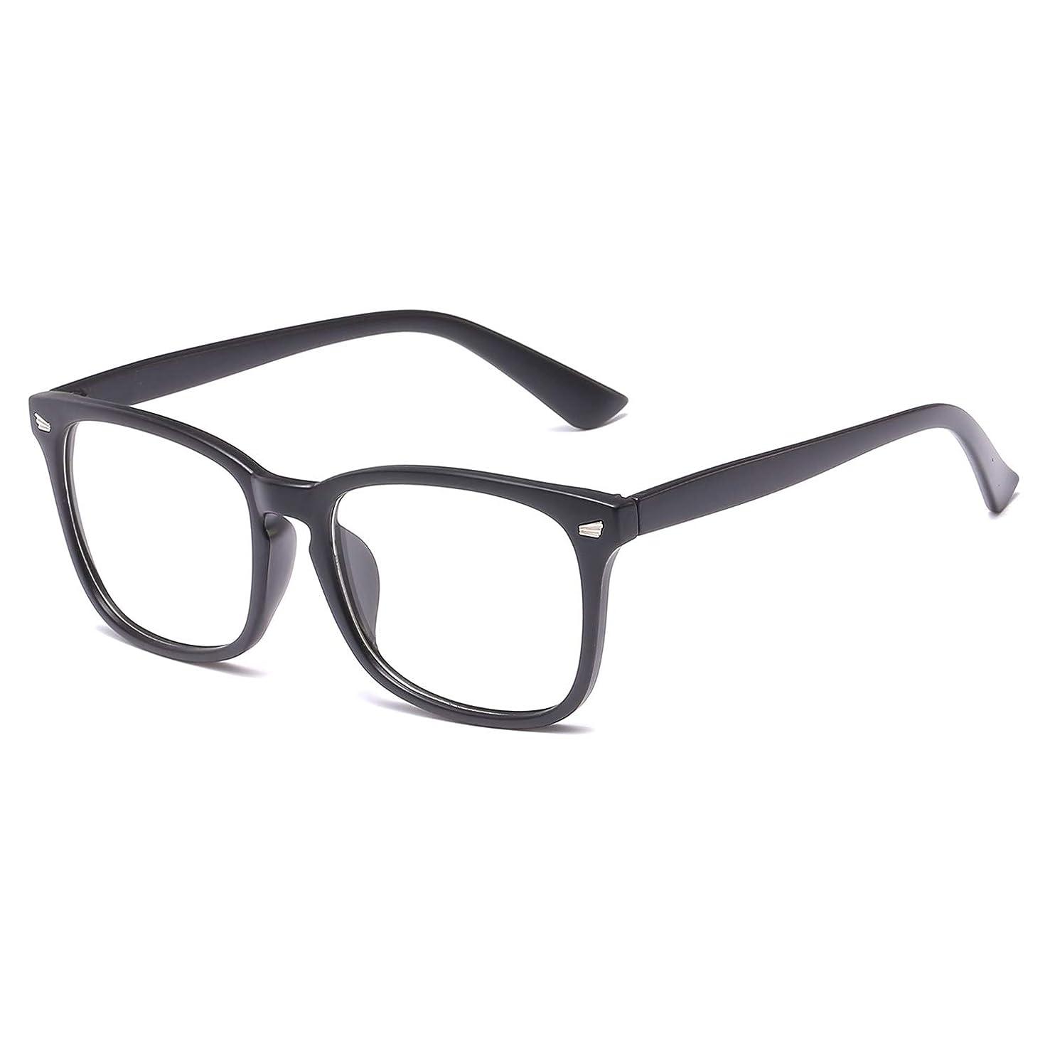 LCEC Premium Blue Light Blocking Glasses – Computer/Gaming/TV/Phones/Reading Glasses for Women Men, Anti Eyestrain UV Filter Lens Lightweight Frame Eyeglasses(Matte Black)