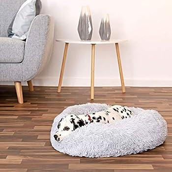 dibea Panier Rond Chien Coussin Chat Panier Donut Ø 60 cm Dimension extérieure Gris Clair