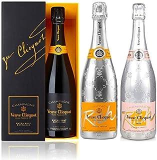 Veuve Clicquot trío de champagne extra-brut pack con estuche, Rich and Rich Rosé