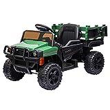 JOYMOR Ride on Truck with Trailer, 2.4G Remote Control 12v Power Wheel Kids Toddler Motorized...