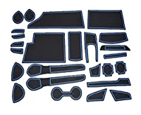 新型ノートe-POWER 青 全グレード対応25ピース インテリア ラバーマット ドアポケット マット ドリンクホルダー 滑り止め ノンスリップ 収納スペース保護S X モードプレミアX メダリスト NISMO日産 NOTE