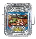Durable Packaging-D49113 Foil Rectangular Handle Aluminum Roasting Pan, 18' x 13-5/16' x 2-5/8' (Pack of 12)
