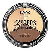 NYX Professional Makeup Paleta de Contouring & Iluminador 3 Steps to Sculpt Face Sculpting Palette tono 2 Light color Beige