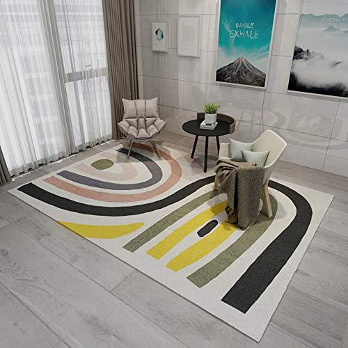 LLGHT Alfombra Moderna de Pelo Corto Simplicity en Beige Gris Marrón con Patrón de Triángulo Geométrico para Alfombra de Salón y Habitación Infantil, 160x230 cm (Color : 3, Size : 1.8×2.5m)