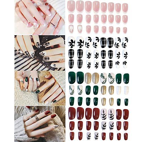 mSure Lot de 96 faux ongles pour un usage quotidien