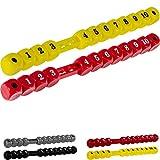 Tuniro® 2 Stück Tischfussball Torzähler für Kickertisch in Würfelform, nummeriert von 1 bis 10, rot/gelb, Tischkicker Toranzeige