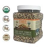 Pride Of India orgánica Tres proteína Colors Quinoa grano entero Rico, 1,5 libra (24 oz) tarro
