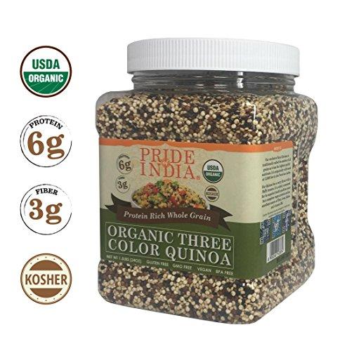 Pride Of India orgánica Tres proteína Colors Quinoa grano entero Rico,...