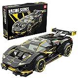HEDI Maqueta de coche deportivo para coches de carreras Lambo Speed Champions Evo, bloques de construcción compatibles con Lego