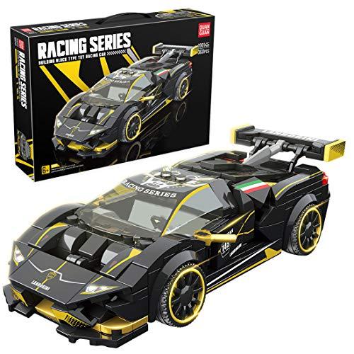 ZCXX Juego de construcción de coche deportivo, 360 piezas, bloques de construcción MOC, para coches de carreras,...