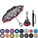 ABCCANOPY Parapluie inversé, double couche, inversé, coupe-vent, pour une utilisation en...