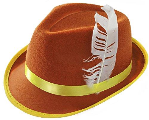 Bavaroise Hat - Brown feutre avec plume [Jouet]