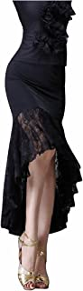 [LNIGHT]ラテンダンス用スカート レース不規則な裾 社交ダンス ヒップスカート チャチャ ルンバ サンバ ラテン タンゴ 練習 競技ダンスウェア ステージ舞台 ダンス衣装