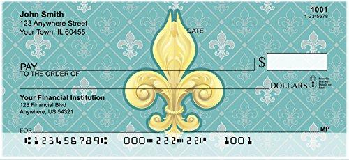 Carousel Checks Inc Fleur-de-lis Top Tear Personal Checks, 4 Boxes of Duplicates, 400 Checks